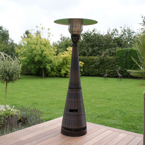 Patio Heater Tall Gas / Brown