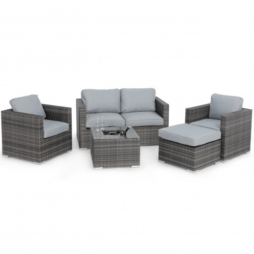 Georgia 2 Seat Sofa Set with Ice Bucket / Grey