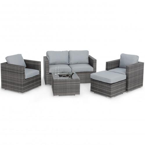 Georgia 2 Seat Sofa Set with Ice Bucket / Grey