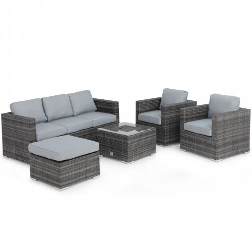 Georgia 3 Seat Sofa Set with Ice Bucket / Grey