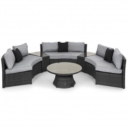 Half Moon Sofa Set / Grey