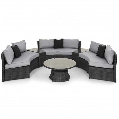 Half Moon Sofa Set / Grey