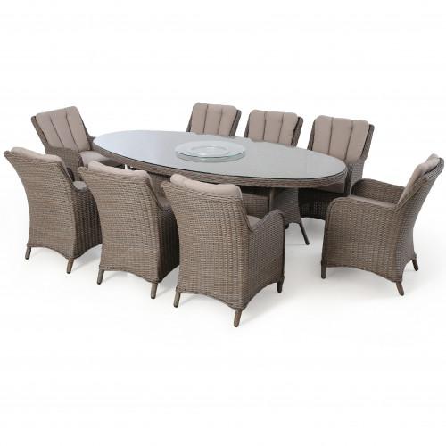 Harrogate 8 Seat Oval Dining Set