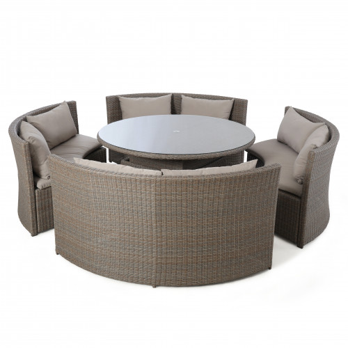 Harrogate Round Sofa Dining Set with Rising Table