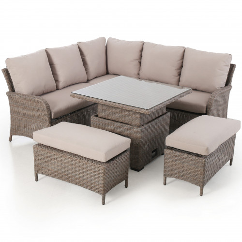 Harrogate Square Corner Dining Set with Rising Table