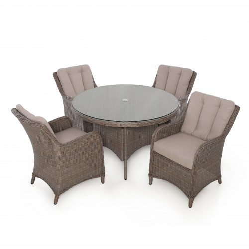 Harrogate 4 Seat Round Dining Set
