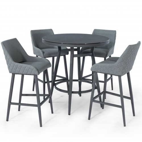 Regal 4 Seat Round Bar Set / Flanelle