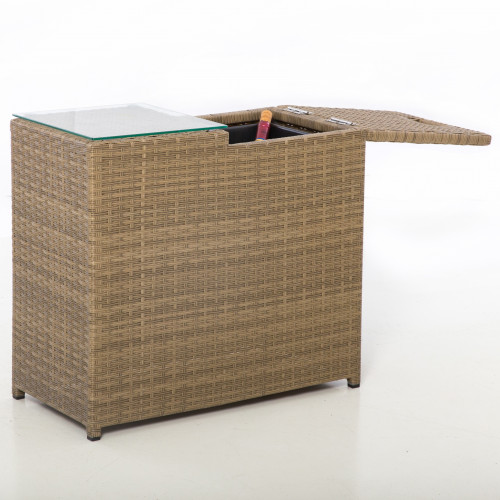 Tuscany Ice Bucket Side Table / Natural