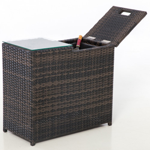 Ice Bucket Side Table / Brown