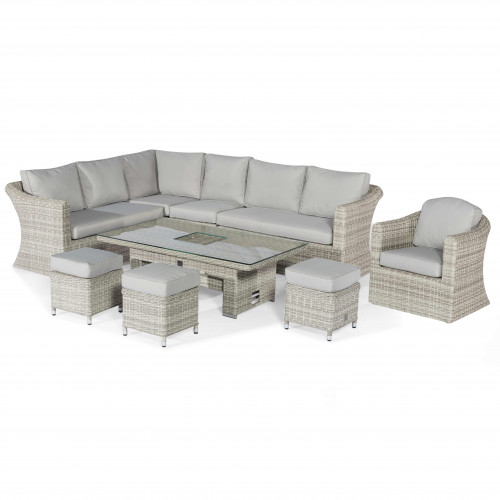 Oxford Deluxe Corner Dining Set with Rising Table and Armchair