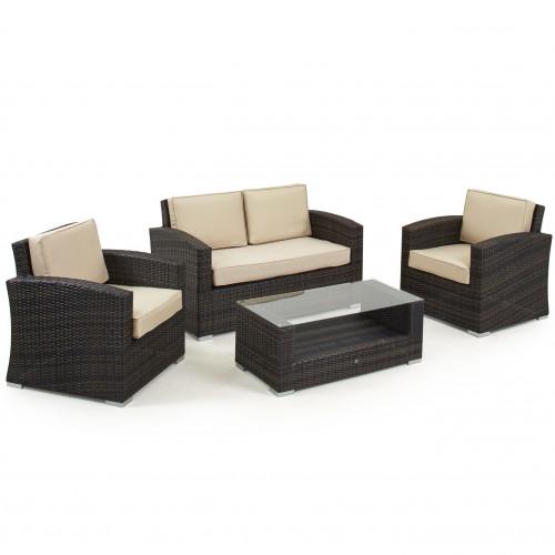 Kingston 2 Seat Sofa Set / Brown