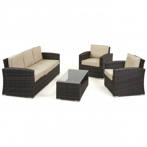 Kingston 3 Seat Sofa Set / Brown
