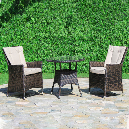 LA 2 Seat Bistro Set / Brown