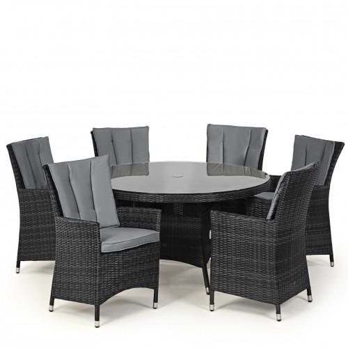 LA 6 Seat Round Dining Set / Grey