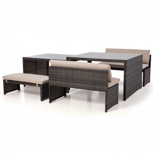 Lyon Sofa Set / Brown