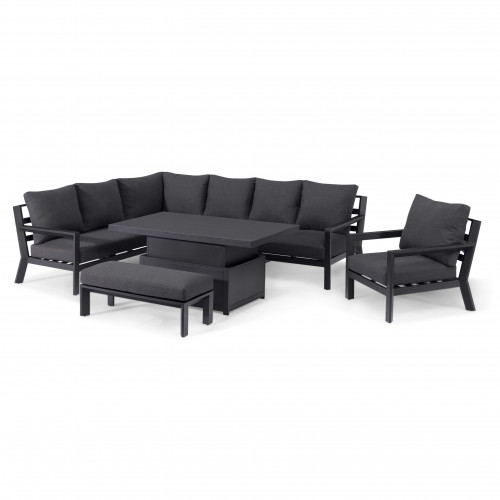 Manhattan Reclining Corner Dining Set with Rising Table and Armchair
