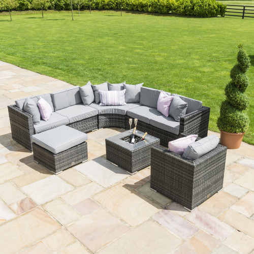 Barcelona Corner Group with Ice Bucket with Chair / Grey