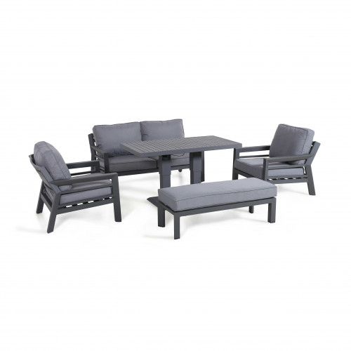 New York 2 Seat Sofa Set with Rising Table