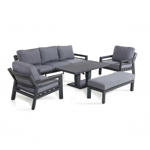 New York 3 Seat Sofa Set with Rising Table