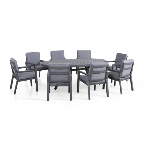New York 8 Seat Oval Dining Set