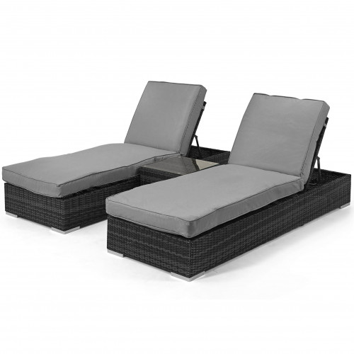Orlando Sunlounger Set / Grey