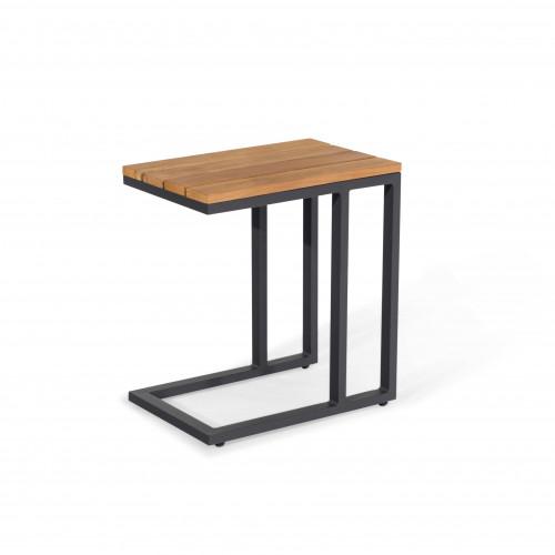 Oslo U Shaped Teak Top Side Table