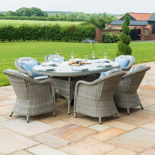 Oxford 6 Seat Oval Dining Set with Heritage Chairs