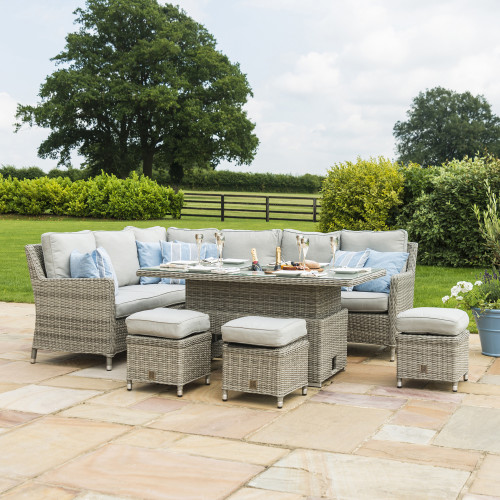 Oxford Corner Dining Set with Ice Bucket & Rising Table