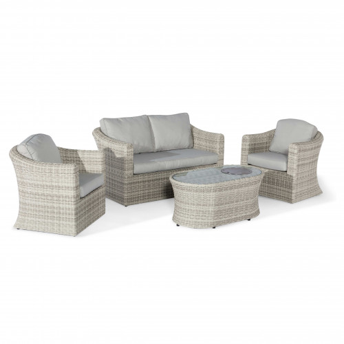 Oxford 2 Seat Sofa Set with Fire Pit Coffee Table