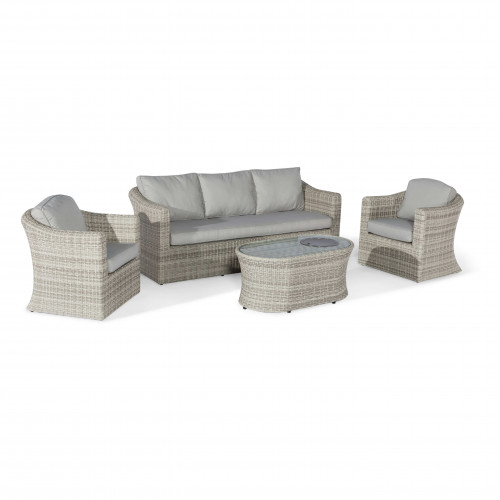 Oxford 3 Seat Sofa Set with Fire Pit Coffee Table