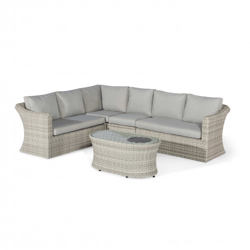 Oxford Large Corner Sofa with Fire Pit Coffee Table