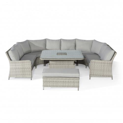 Oxford Royal U Shaped Sofa Set with Rising Table