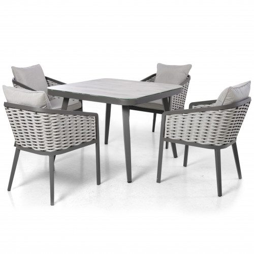 Portofino 4 Seat Square Dining Set