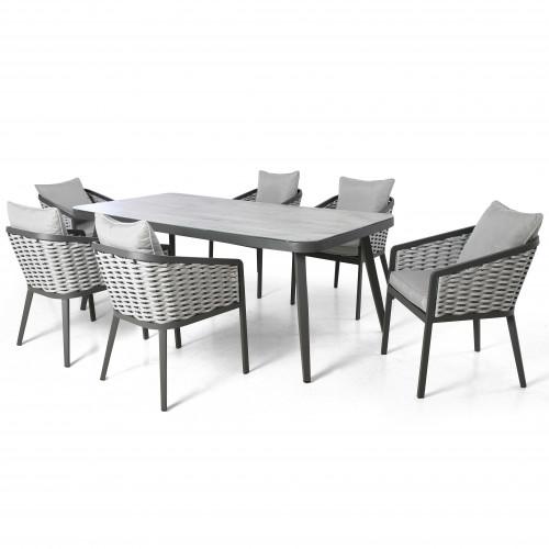 Portofino 6 Seat Rectangular Dining Set