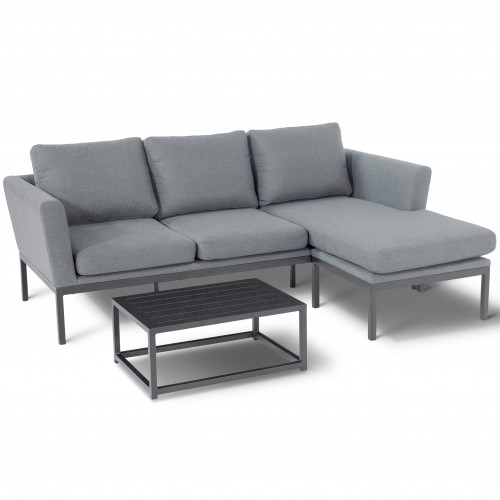 Pulse Chaise Sofa Set / Flanelle
