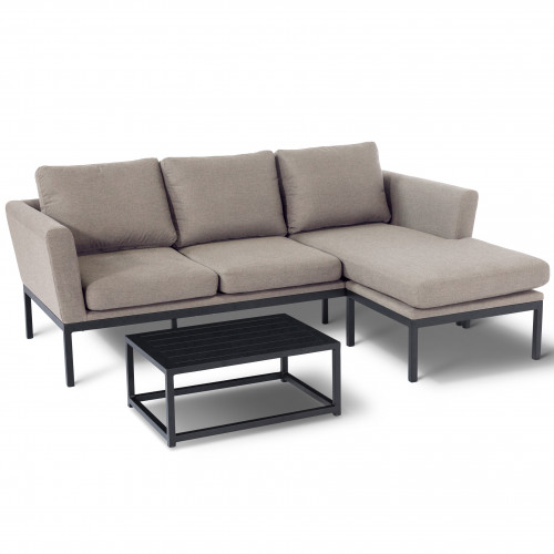 Pulse Chaise Sofa Set / Taupe
