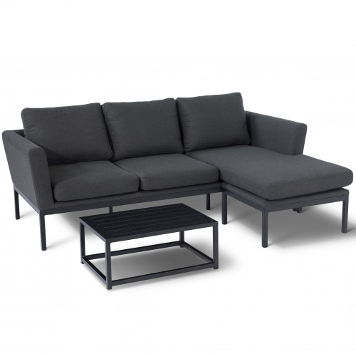 Pulse Chaise Sofa Set / Charcoal