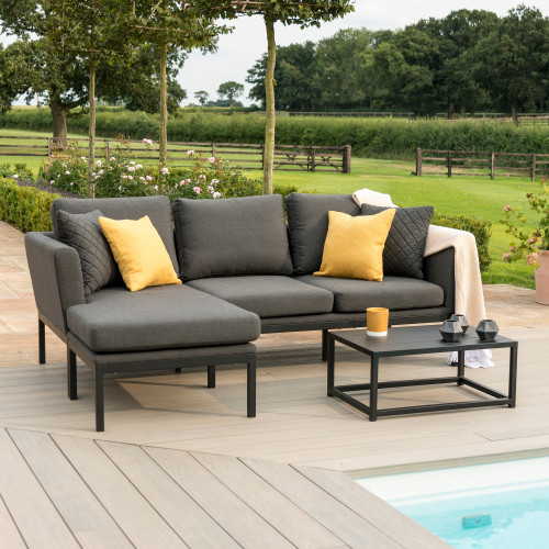 Pulse Chaise Sofa Set / Charcoal