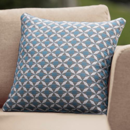 Fabric Scatter Cushion / Mosaic Blue