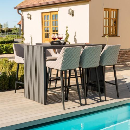 Regal 6 Seat Rectangular Bar Set / Taupe