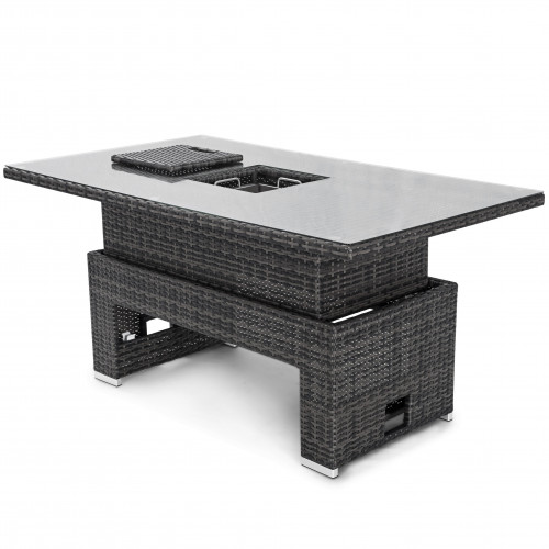 Rising Table with Ice Bucket / Grey