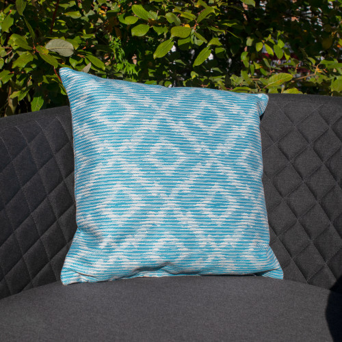 Fabric Scatter Cushion (Pack of 2) / Santorini Blue