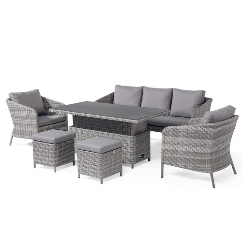 Santorini Sofa Dining Set with Rising Table