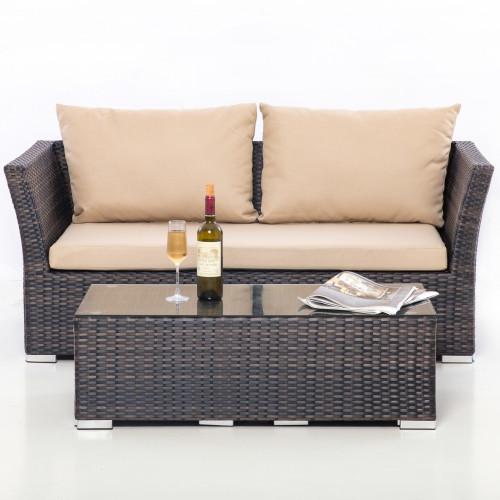 Seville Sofa Set / Brown