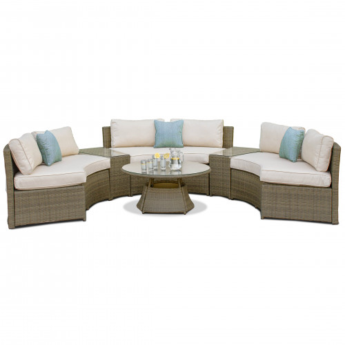 Tuscany Half Moon Sofa Set / Natural