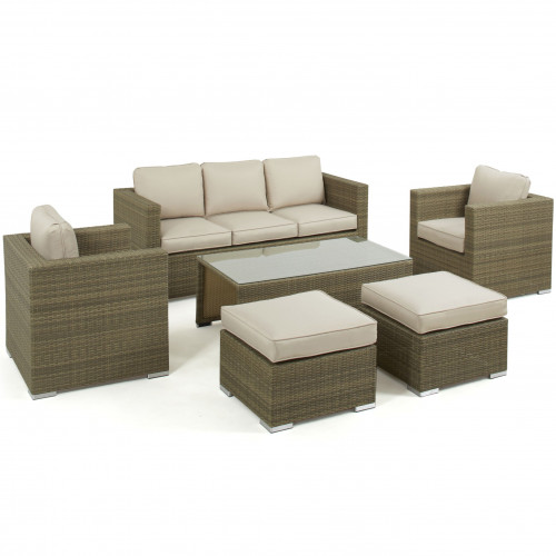 Tuscany 3 Seat Sofa Set / Natural