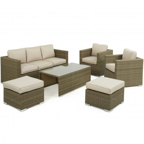 Tuscany 3 Seat Sofa Set / Natural