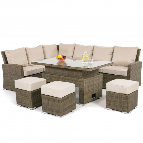 Tuscany Corner Dining Set with Rising Table / Natural