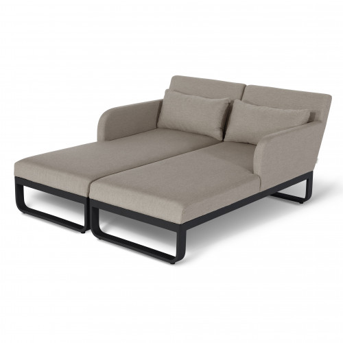Unity Double Sunlounger / Taupe