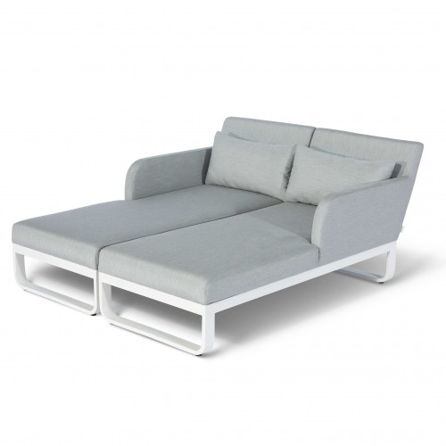 Unity Double Sunlounger / Lead Chine
